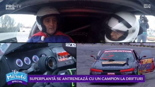 SuperPlanta se antreneaza cu un campion la drifturi