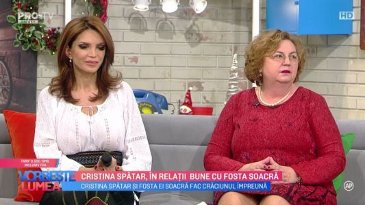 Cristina Spatar, in relatii bune cu fosta soacra