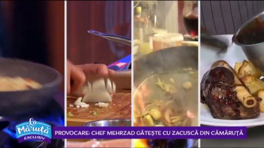 Provocare: Chef Mehrzad gateste cu zacusca din camaruta