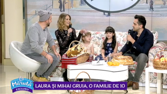 Laura si Mihai Gruia o familie de 10