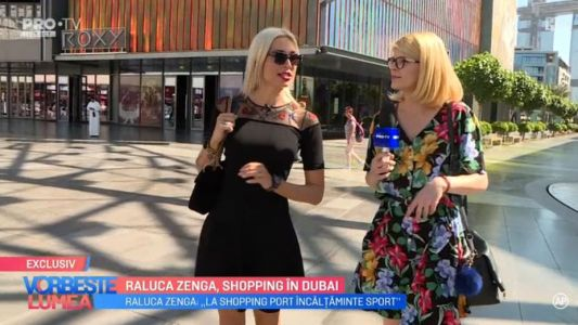 Raluca Zenga, shopping in Dubai