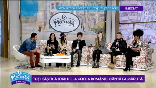 Toti castigatorii de la Vocea Romaniei canta La Maruta