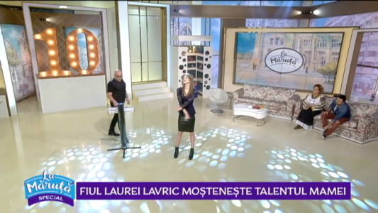 Fiul Laurei Lavric mosteneste talentul mamei
