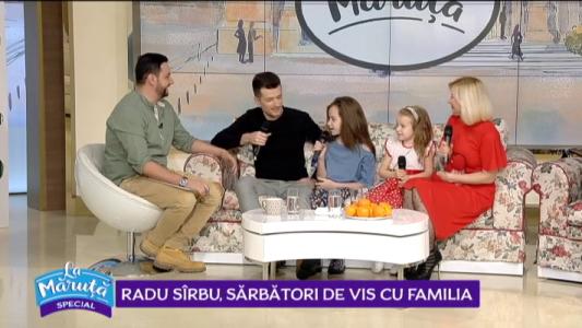 Radu Sirbu, sarbatori de vis cu familia