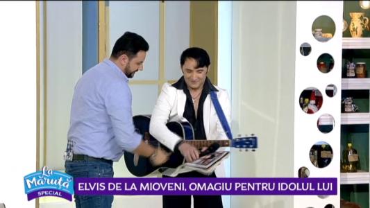 Elvis de la Mioveni, omagiu pentru idolul lui