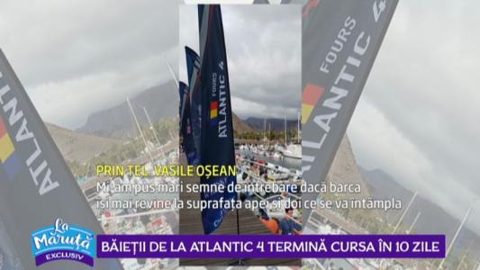 Mesaj de la Atlantic 4, din mijlocul Oceanului Atlantic