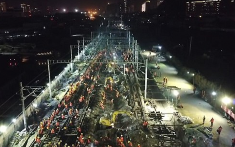 1500 de chinezi au construit in 9 ore o cale ferata