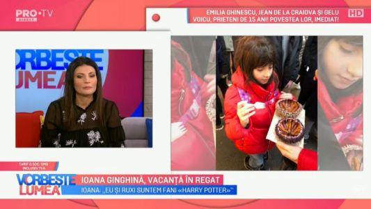 Ioana Ginghina, vacanta in Regat