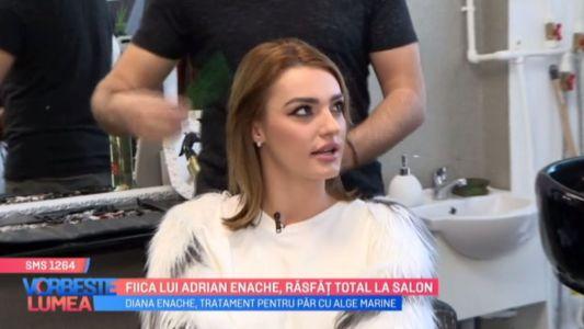 Fiica lui Adrian Enache, rasfat total la salon