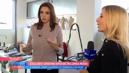 Exclusiv: Cristina Spatar, in lumea modei