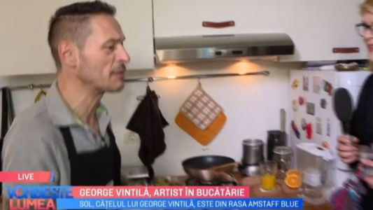 George Vintila, artist in bucatarie