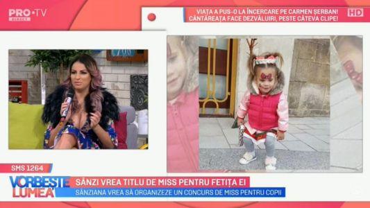 Sanziana Buruiana a venit la Vorbeste Lumea impreuna cu fetita sa
