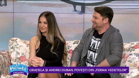 """Gratiela si Andrei Duban, dezvaluiri din emisiunea """"Ferma Vedetelor"""""""