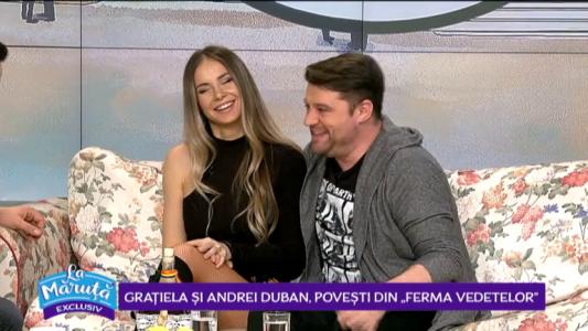 """Andrei Duban si Gratiela, dezvaluiri din emisiunea """"Ferma Vedetelor"""""""
