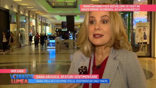 Dana Savuica, sfaturi vestimentare