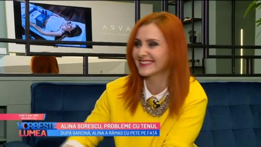 Alina Sorescu, probleme cu tenul