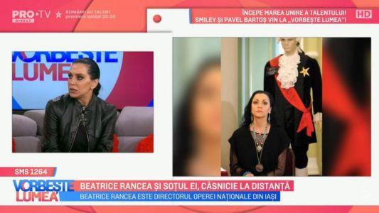 Beatrice Rancea si sotul ei, casnicie la distanta
