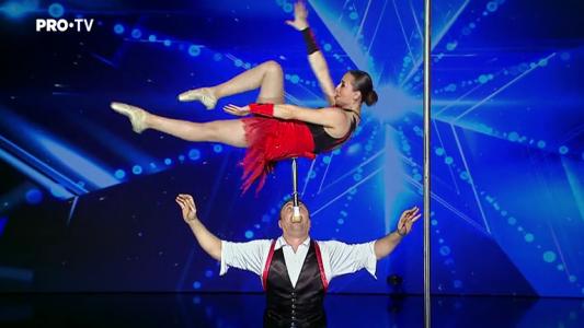 Romanii au talent 2018: Fedor si Svetlana Grosu - Echilibristica pe scara