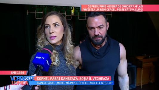 Cornel Pasat danseaza, sotia il vegheaza