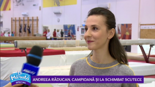 Andreea Raducan, campioana si la schimbat scutece