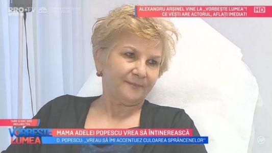 Mama Adelei Popescu vrea sa intinereasca