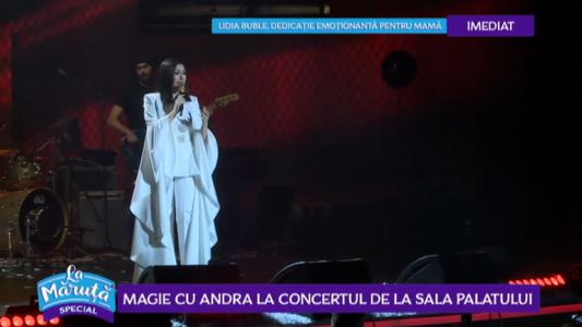 Magie cu Andra la concertul de la Sala Palatului