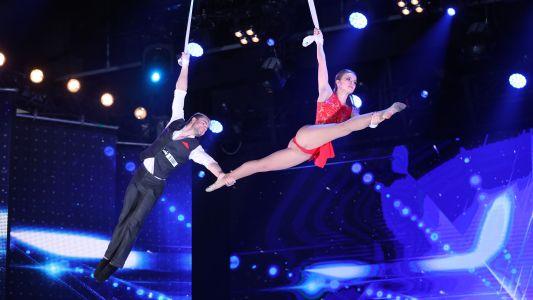 Romanii au talent 2018: Anastasia si Sergey - Acrobatii   la inaltime