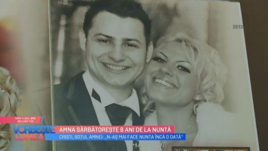Amna sarbatoreste 8 ani de la nunta
