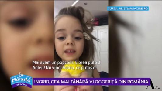 Ingrid, cea mai tanara vloggerita din Romania