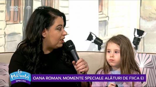 Oana Roman, momente speciale alaturi de fiica ei