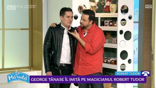 George Tanase il imita pe magicianul Robert Tudor