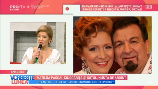 Matilda Pascal Cojocarita si sotul, nunta de argint