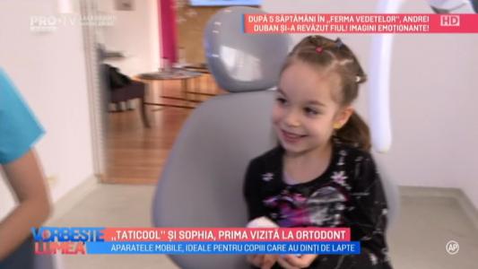 Taticool si Sophia, prima vizita la ortodont