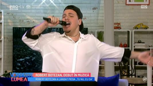 Robert Botezan, debut in muzica