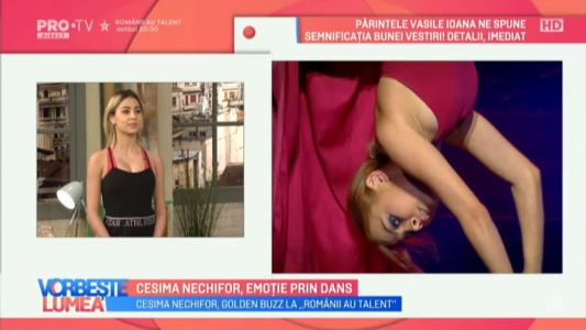 Cesima Nechifor, emotie prin dans