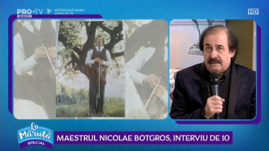 Maestrul Nicolae Botgros, interviu de 10