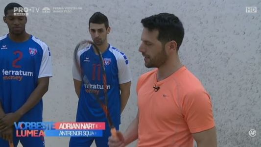 Adrian Nartea. Squash cu voleibalistii de la Steaua