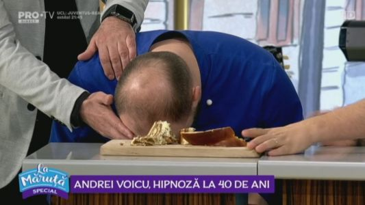 Andrei Voicu, hipnoza la 40 de ani