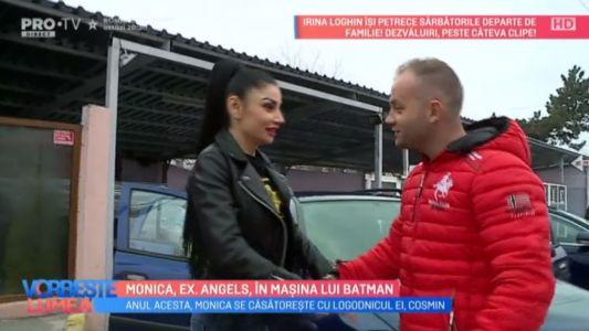 Monica, ex. Angels, in masina lui Batman