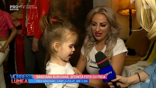 Sanziana Buruiana, sedinta foto cu fiica