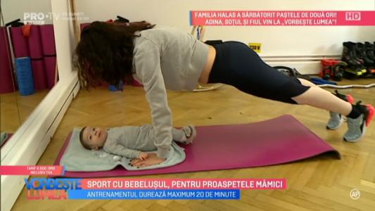 Sport cu bebelusul, pentru proaspetele mamici