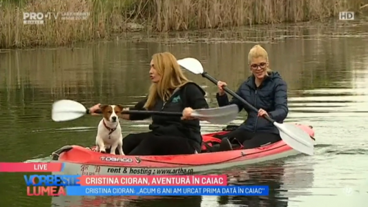 Cristina Cioran, aventura in caiac