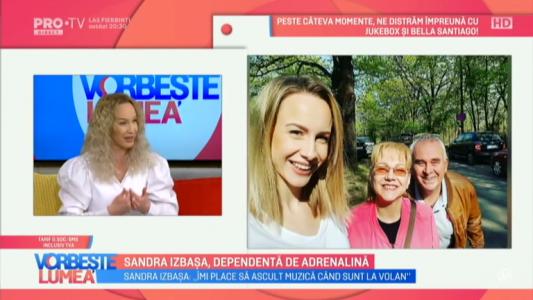 Sandra Izbasa, dependenta de adrenalina