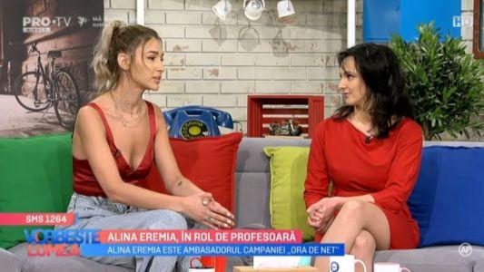 Alina Eremia, in rol de profesoara