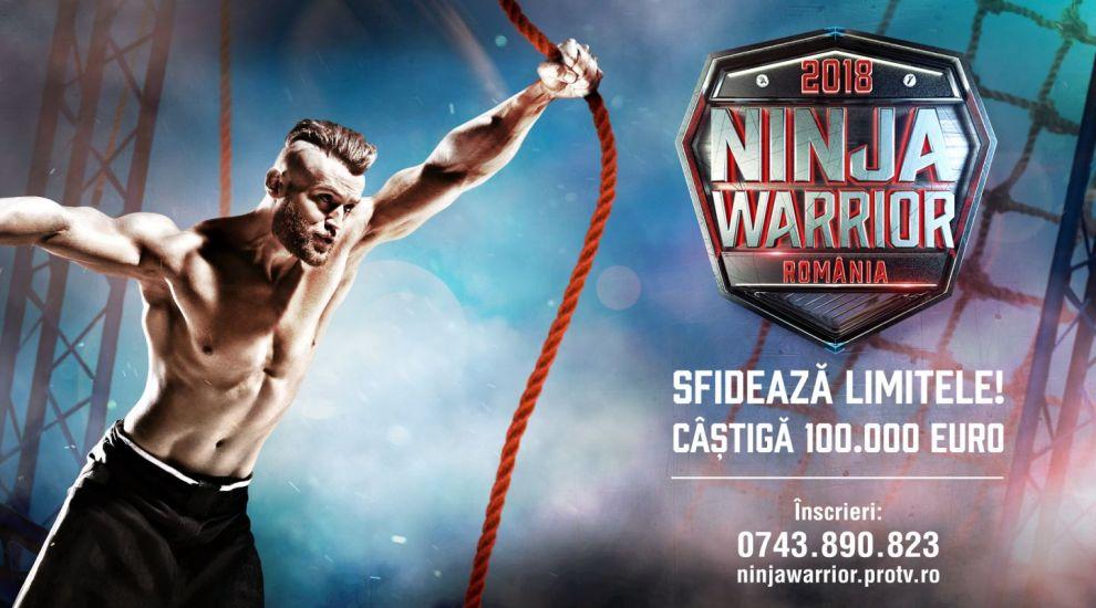 Sfideaza limitele, castiga titlul de Ninja Warrior Romania si premiul in valoare de 100.000 de euro!