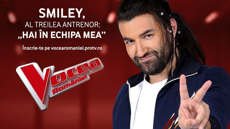 Pentru cel de-al optulea sezon, Smiley este antrenor la Vocea României! Provocarea continuă: ghici cine vine la Vocea!