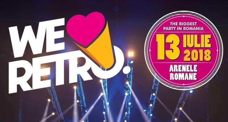 Arenele române vor găzdui în această vara cea mai mare petrecere retro din România, We Love Retro