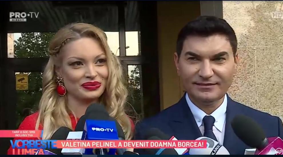 """VIDEO Valentina Pelinel a devenit doamna Borcea. """"De când am văzut-o mi-am zis ca ea este aleasa"""""""