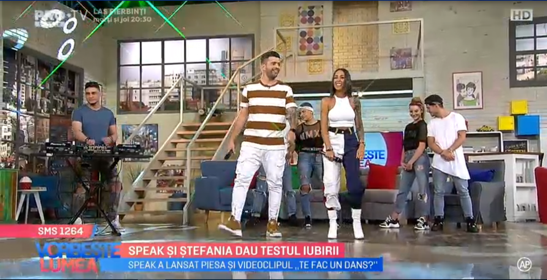 "VIDEO Speak si Stefania au lansat piesa ""Te fac un dans"""