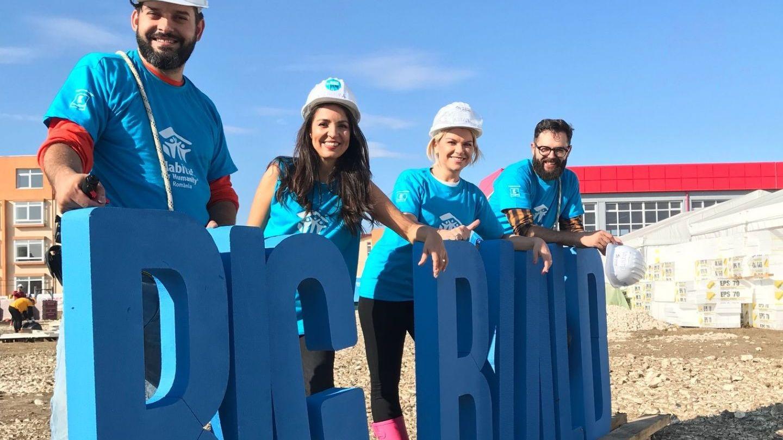 """Echipa PRO TV s-a alăturat campaniei """"Habitat for Humanity"""". Cum a decurs evenimentul Big Building"""